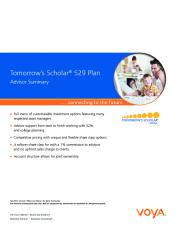 Preview Image for Tomorrow's Scholar 529 Advisor Summary.pdf