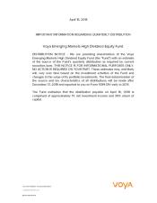 Preview Image for Voya Emerging Markets High Dividend Equity Fund - April 16, 2018.pdf
