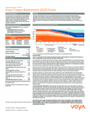 Preview Image for Voya Target Retirement 2025 Fund Fact Sheet - Class I.pdf