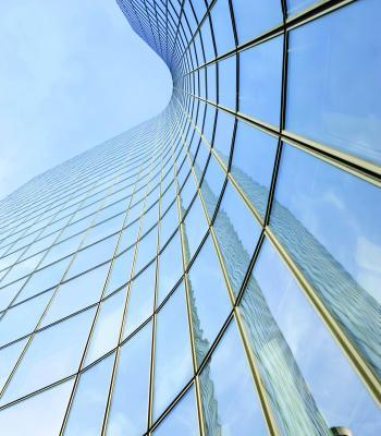 Blue skyscraper