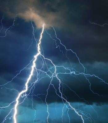 Stormy sky with lightening