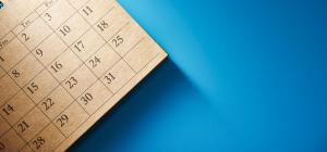 Calendar with blue background