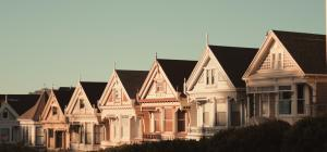 Victorian houses in a row